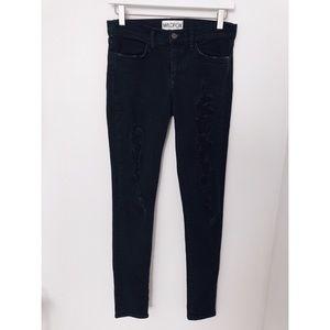Wildfox | Black Distressed Ripped Skinny Jeans